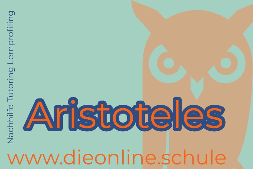 Aristoteles philosophie bio und lehre