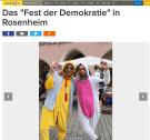 PARTEI Maskottchen in Rosenheim