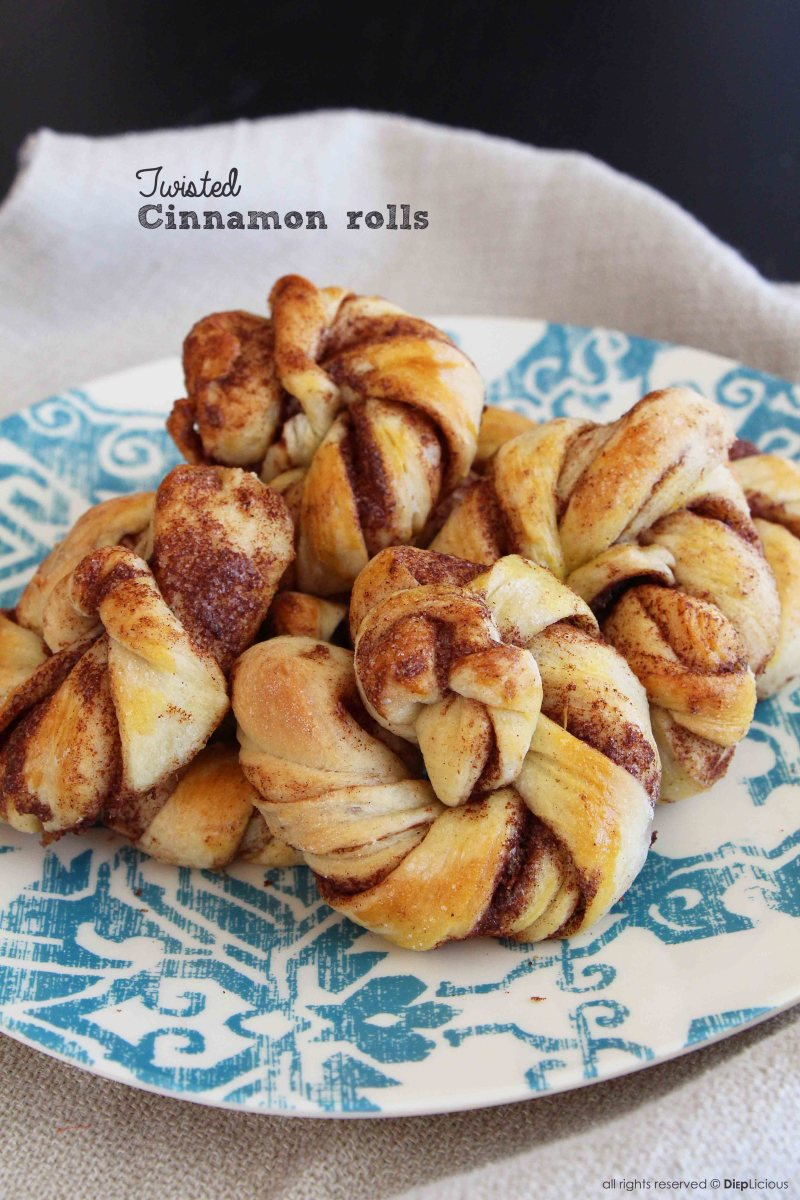 Twisted cinnamon rolls