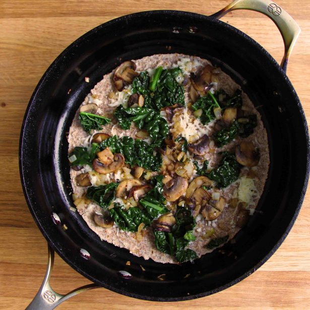 sauteed kale and mushrooms