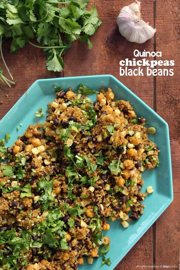 quinoa chickpeas and black beans