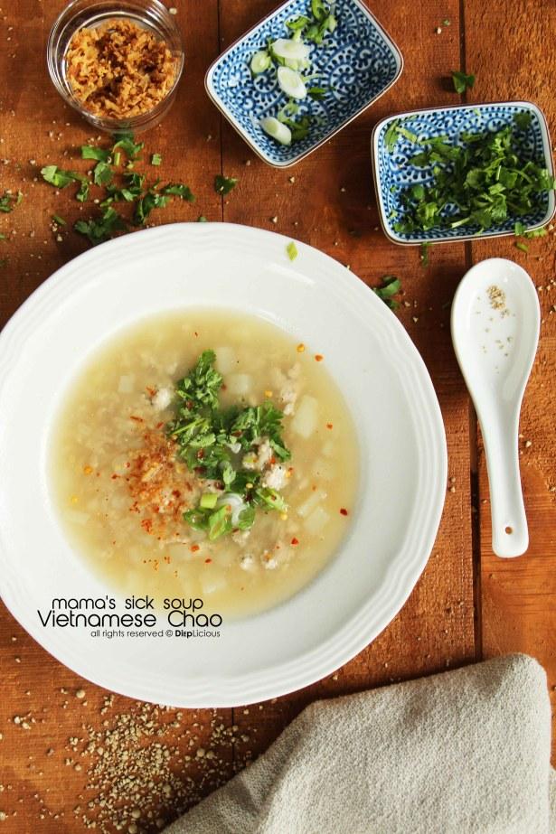 chao-vietnamese rice soup