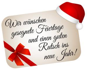 Frohe Weihnachten Und Einen Guten Rutsch Ins Neue Jahr Die Produkt