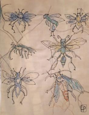 Insekten genäht – eine Arbeit der Künstlerin Edith Platzl. Foto Christoph Wiesmayr