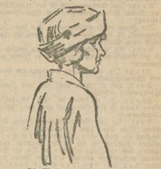 Vilma Ritschel, vom Gerichtszeichner porträtiert. Foto Open Commons