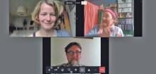 Die Gemeinschaft der Schreibenden im Online-Interview. Screenshot Andreas Pavlic