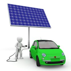Solaranlage mit Elektro Auto