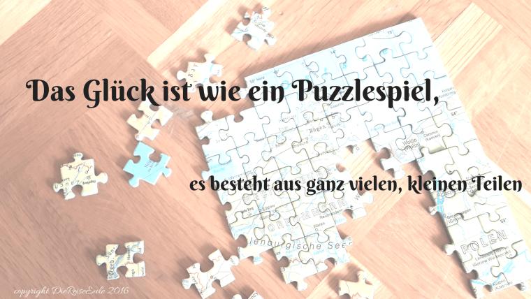 Das Glück ist wie ein Puzzlespiel,