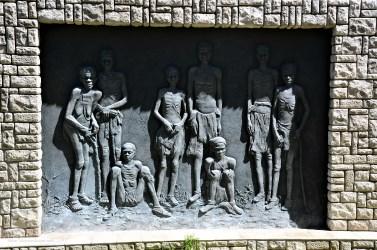 Detail des Genozid-Denkmals