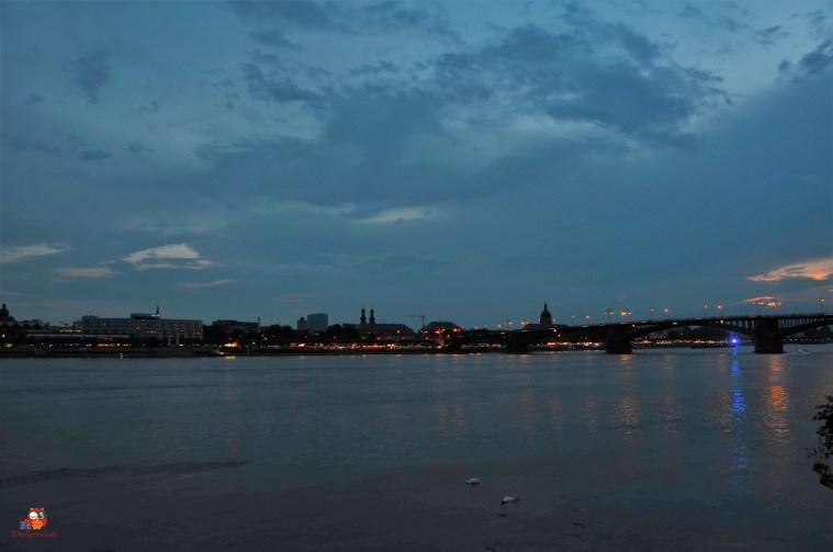 Mainz zur Blauen Stunde