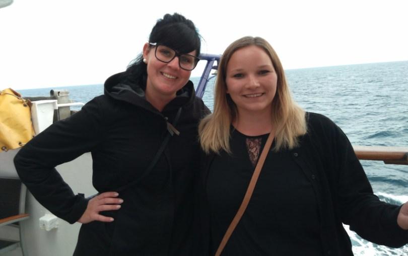 Johanna (27 Jahre) und Janine (23 Jahre) aus dem Raum Nürnberg unterwegs mit der MS Berlin