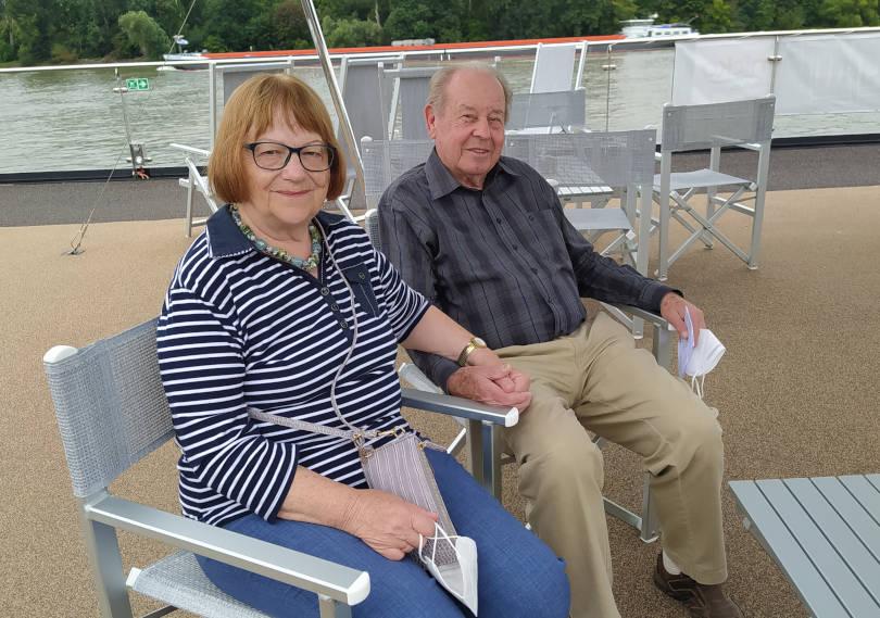 Zum 60sten Mal auf Kreuzfahrt! Cecillia und Heinz Ziegler aus Hammelburg