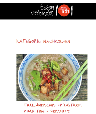 """Thai Reissuppe mit Tofu auf """"Die See kocht"""""""