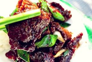 Flank Steak Mongolisches Rindfleisch