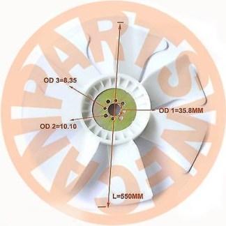FAN BLADE ISUZU 6BG1 ENGINE AFTERMARKET PARTS DIESEL ENGINE PARTS BUY PARTS ONLINE SHOPPING 5