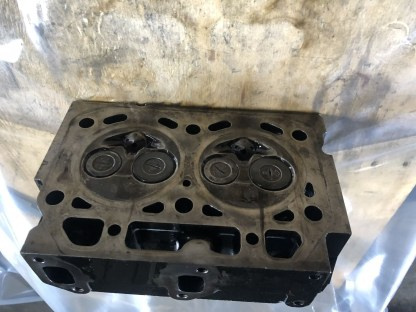 USED CYLINDER HEAD ASSY YANMAR 2T75 2T75HL ENGINE TRACTOR DISMANTLING PARTS COMPLETE w VALVE SPRING 2