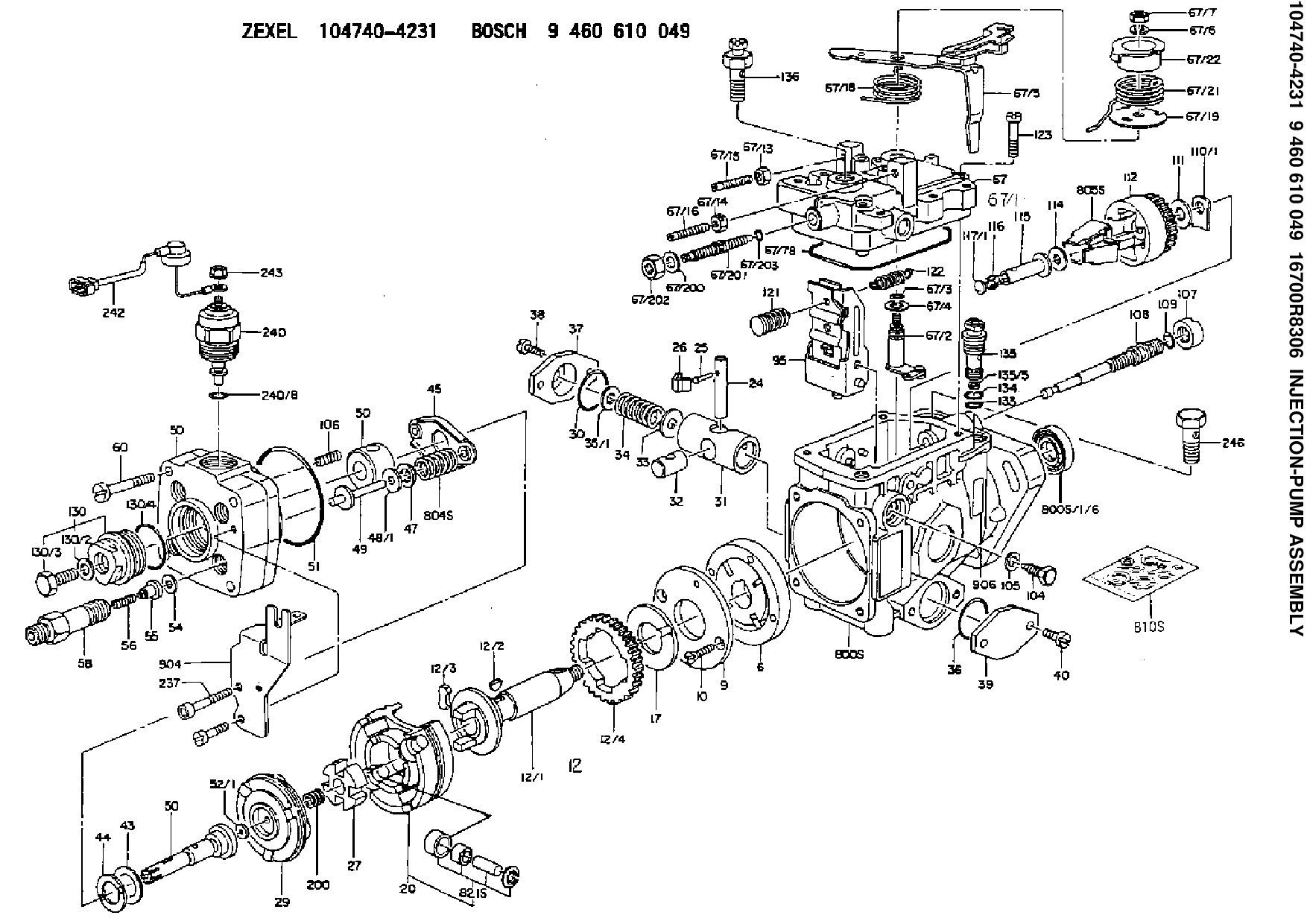Diagrams Wiring Zexel Fuel Injection Pump Parts