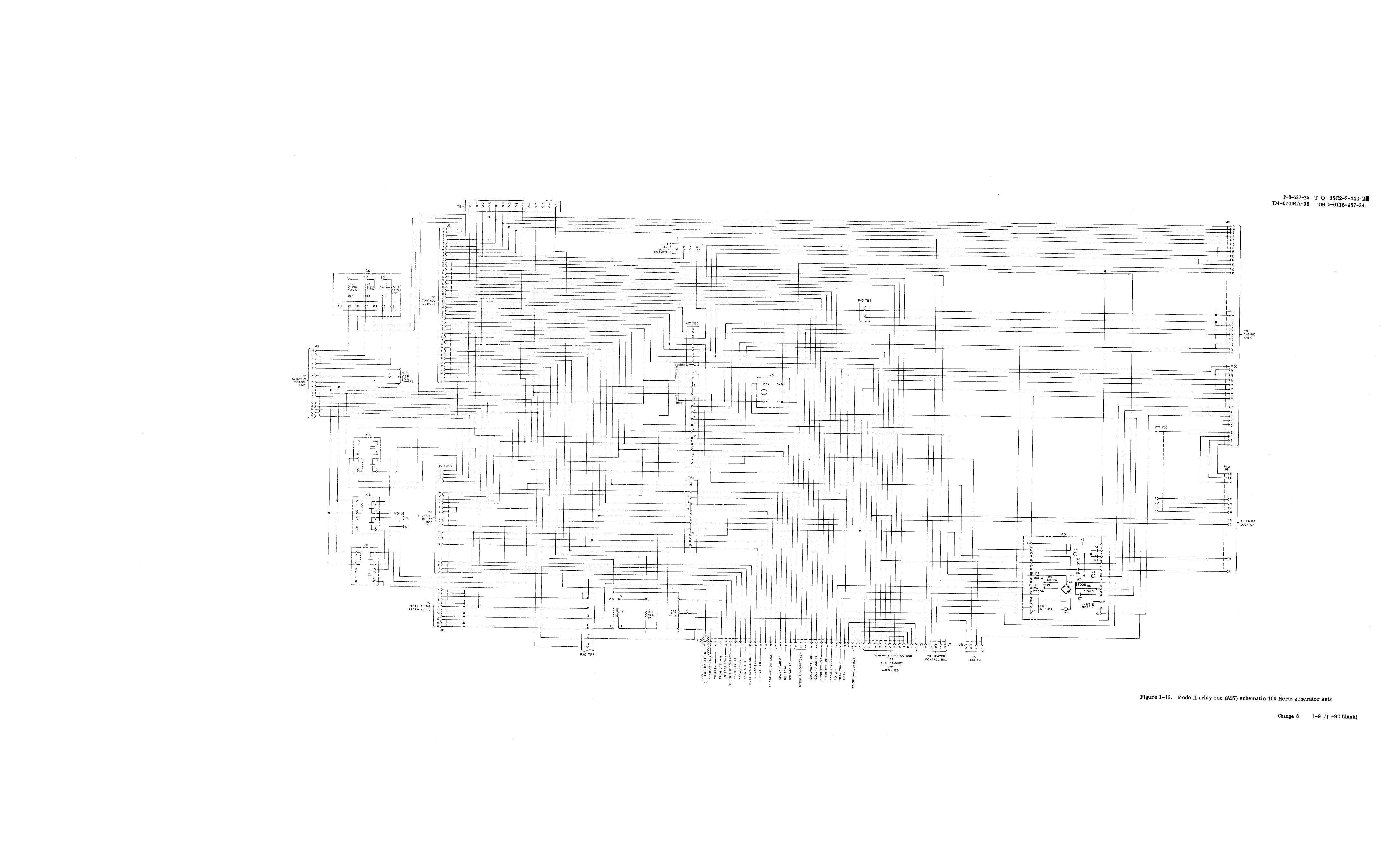 Figure 1 16 Mode Ii Relay Box A27 Schematic 400 Hertz