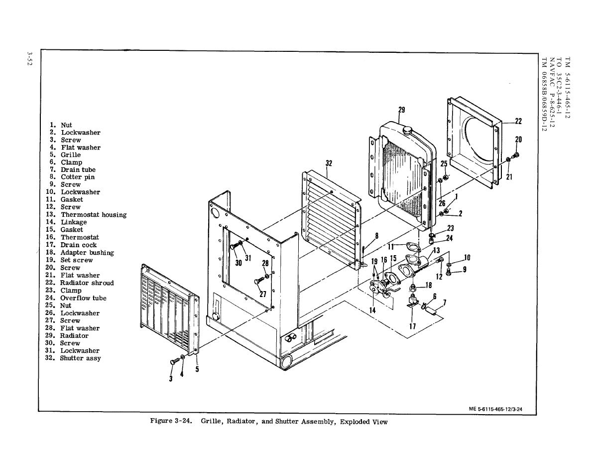 Figure 3 24 Grille Radiator And Shutter Assembly