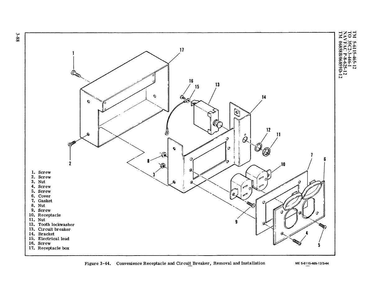 Figure 3 44 Convenience Receptacle And Circuit Breaker