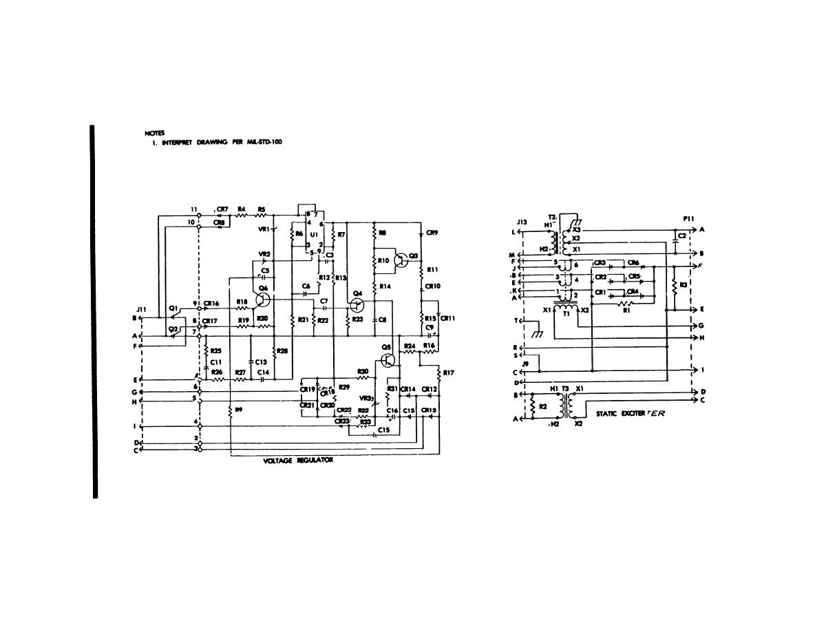Figure 5 32 400 Hz Static Exciter And Voltage Regulator Schematic Diagram Drawing No 72
