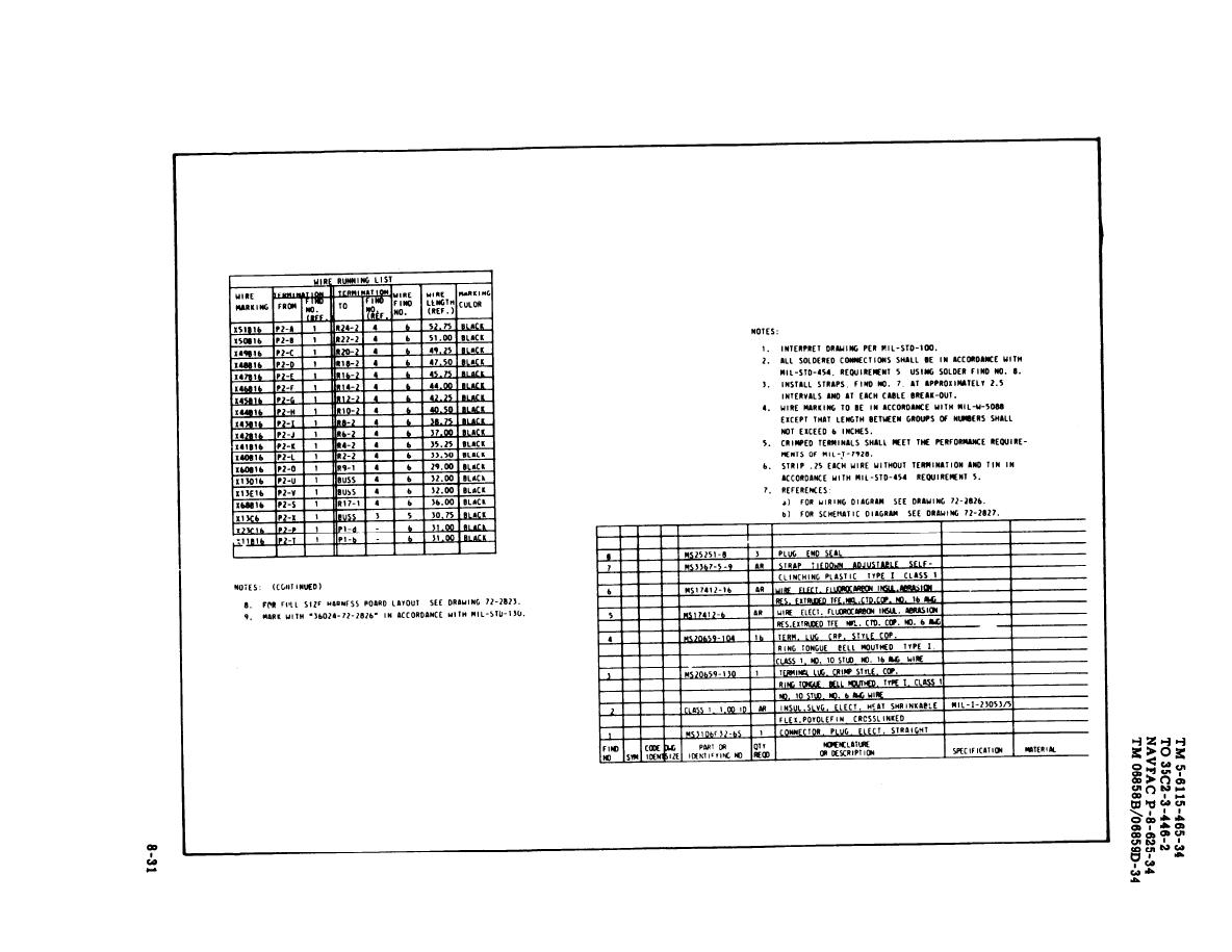Figure 8 18 Load Bank Wiring Harness Sheet 1 Of 2 Drawing No 72