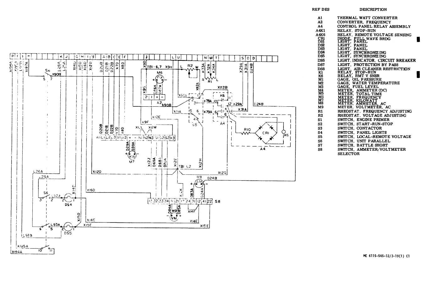 Figure 3 19 Control Cubicle Schematic Diagram Sheet 1 Of 2