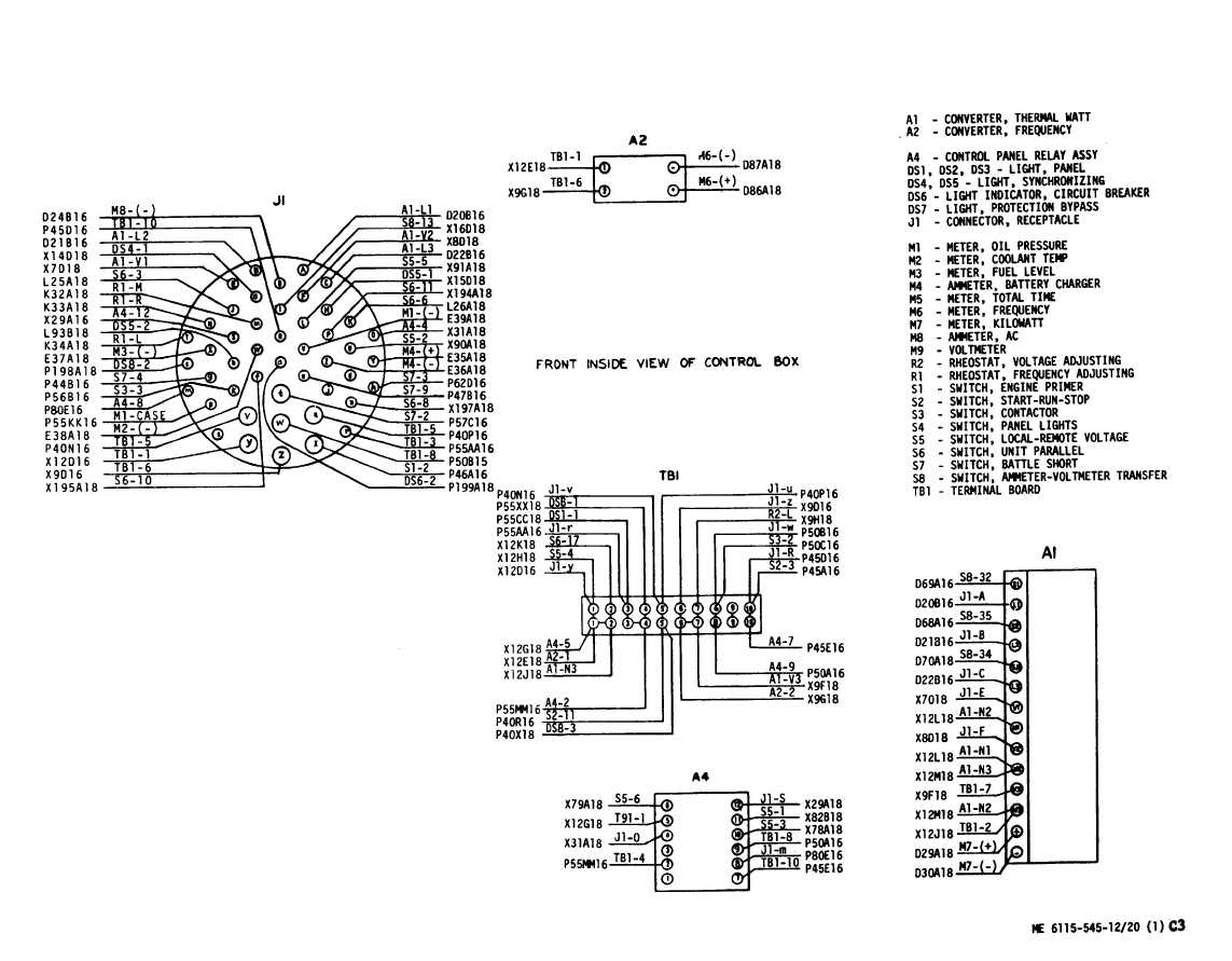 Figure 3 20 Control Cubicle Wiring Diagram Sheet 1 Of 2