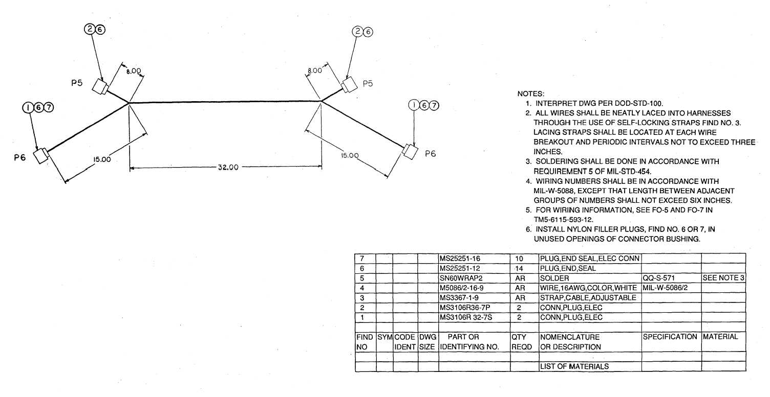 Fo 2 Main Control Harness Sheet 1 Of 2