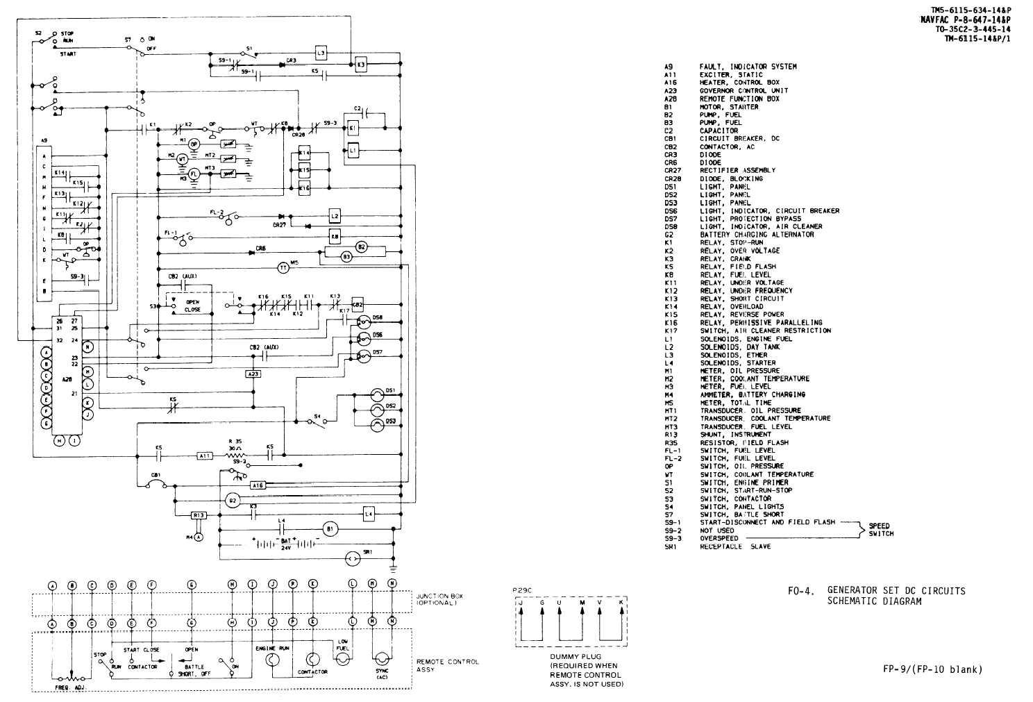 Fo 4 Generator Set Dc Circuits Schematic Diagram