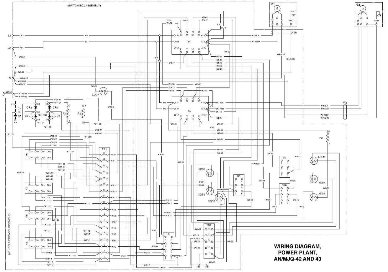 Wiring Diagram Power Plant An Mjq 42 And 43
