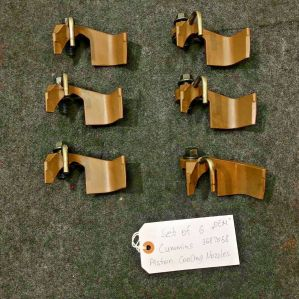 Set of 6 Piston Cooling Nozzles for Cummins ISX15 3687058 3412860 OEM
