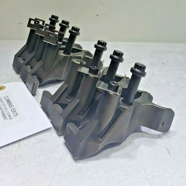 (SET OF 6) CUMMINS ISX15 FUEL INJECTOR HOLD DOWN CLAMPS 3685567 OEM