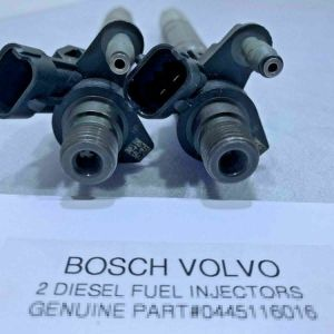(SET OF 2) Fuel Injectors BOSCH VOLVO 0445116016 OEM GENUINE READY TO SHIP
