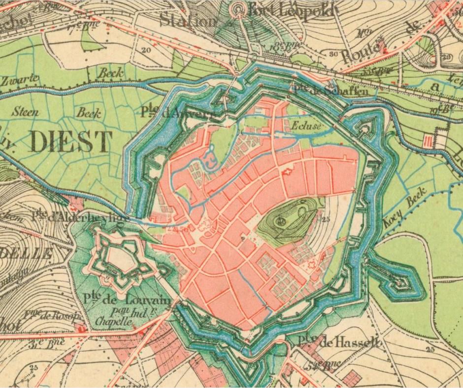 Militaire kaart uit 1870