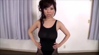 セクシー黒パンスト ヨガ教室 インストラクターのダンスがセクシー過ぎ