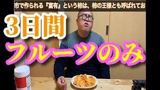 【1週間で−1.0kg】茨城フルーツダイエット2『柿、りんご』