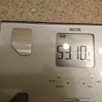 ダイエット85日目の体重
