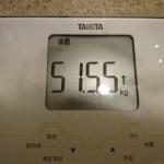 ダイエット169日目の体重