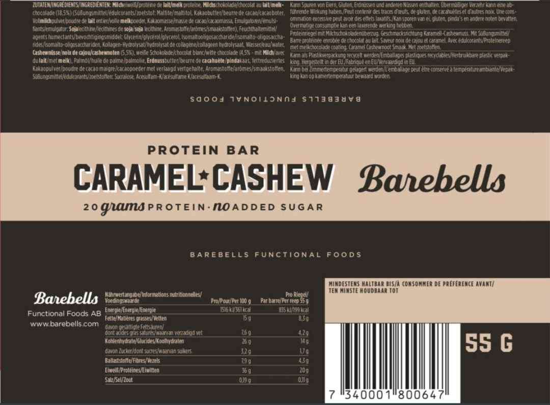 valeurs nutrition barbells
