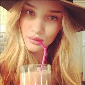 El batido de Rosie Huntington-Whiteley