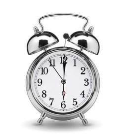 6時を指す時計