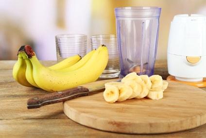 バナナとグラス