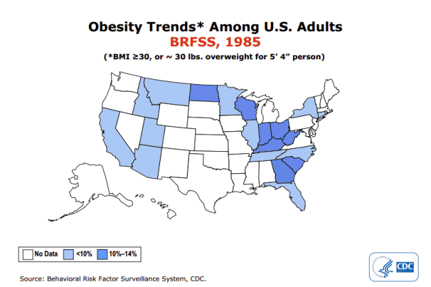 Obesity Trends Map 1985