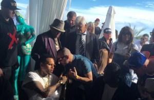 Chris Brown, Lucenzo & Joe Jackson