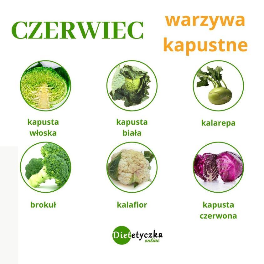 Czerwiec sezonowo - warzywa kapustne