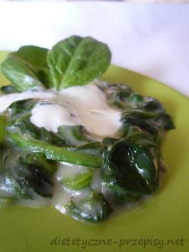 Szpinak W Dietetycznym Sosie Serowym 300 Kcal Dietetyczne Przepisy