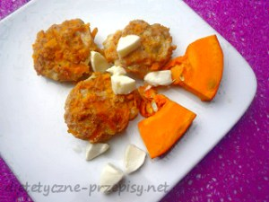 kotlety z dyni i kurczaka z mozzarellą