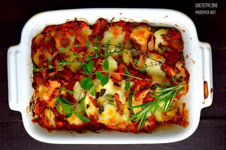 Zapiekanka Ziemniaczana Z Cukinią Pomidorami I Mozzarellą