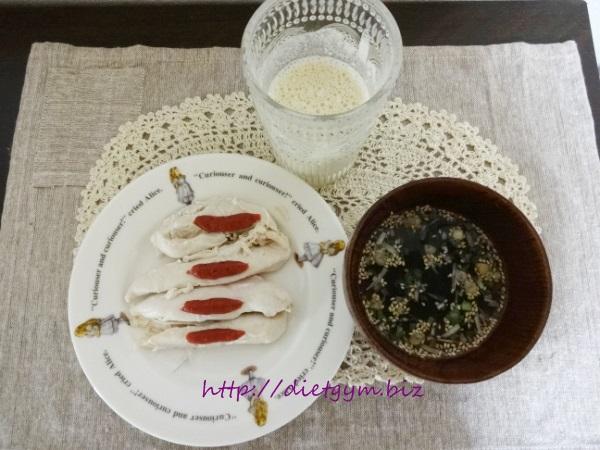 糖質制限ダイエット15日目朝食